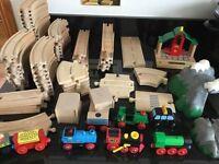 84 pcs Brio Wooden Train Track & Accessories