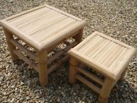 Pair of small Bamboo Tables