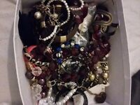 For sale box full of jewellery