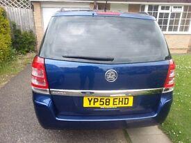 Vauxhall Zafira 1.6 i 16v Life MPV 5dr blue colour Petrol Manual - 7 seater