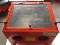 Sandblast Box and Air Compressor