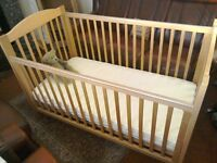 Two Cot Beds with Mattresses and Summer and Winter Bedding