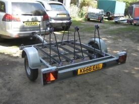 VERY HEAVY DUTY 5 CYCLE TRANSPORTER TRAILER 500KG FULLY GALVANISED...