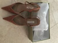 Ladies Dune Tan Real Leather Shoes