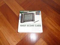 Digital golf score card