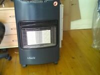 Mobile lifestyle brand gas fire in very good condition but back panel has been lost