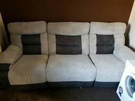 3 seater electric reclining sofa