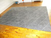 Large Black and Grey Rug