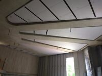 Suspended ceiling fixing. Partitioning.