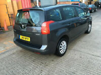 2011 PEUGEOT 5008 DIESEL 7 SEATER , PCO LICENCE/TAXI ,LOW MILEAGE /ford galaxy/vw sharon/vw touran