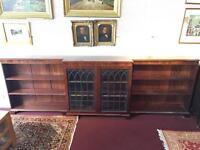 Georgian style break front bookcase