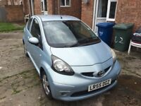 TOYOTA AYGO, Blue, 2005, 1 litre, 1 year MOT, good reliable car, excellent first car