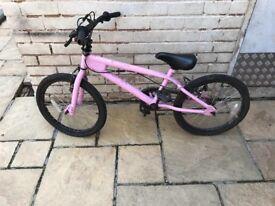 Girls Pink stunt BMX for sale
