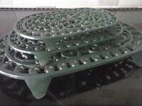 Set of 3 cast iron kitchen trivets