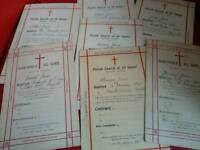 Ephemera, church, parish records, Heaton Norris