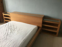 King Size Ikea Malm Double Bed with Headboard Storage