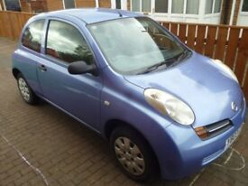 Nissan Micra 2003, MOT 27.10.2018, good tyres, second engin with estimate 80000 miles, good running