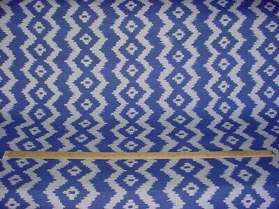 Ralph Lauren LCF64805F Colonsay Ikat Indigo Blue Outdoor Upholstery Fabric ()