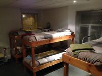 Beds from £15 per person per night. Free towels, bedding, parking, kitchen facilities, Virgin wifi.