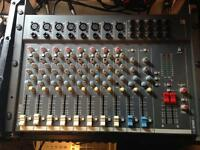 SOUNDCRAFT 12 CHANNEL MIXER + FLIGHT CASE