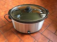 SLOW COOKER 5.5 l - STAINLESS STEEL (LIKE NEW )