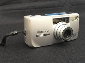 Pentax Espio 140V Point And Shoot 35mm Camera 38-140mm, With/Case + Battery
