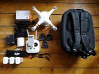 DJI Phantom 3 Pro drone with 4 batteries Polar Pro filters and lots of extras