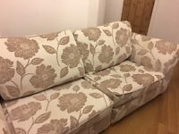 3 seater sofa and swivel chair