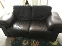 Two Seater Leather Sofa FREE TO GOOD (ANY) HOME
