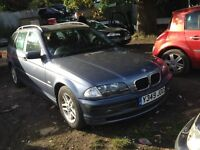 2001 BMW E46 318 1.9 SE estate touring stahlblau steel blue BREAKING FOR SPARES