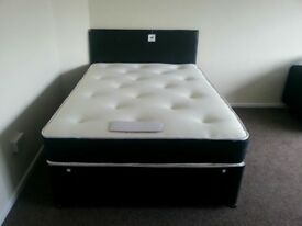 BRAND NEW Single & Double Beds with memory foam & orthopaedic mattresses, single £ 75 double £ 99