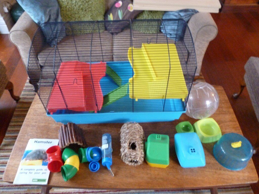 Double Hamster Cage & accessories