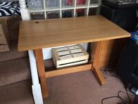 Solid wood computer desk free!!
