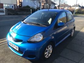 TOYOTA AYGO BLUE 1.0 CHEAP TO RUN TAX AND INSURE 12 MONTHS