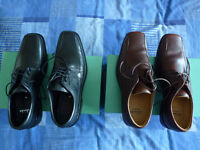 Clarks shoes, 2 pairs - brand new, brown size 9, black size 8.5 (see size info below)