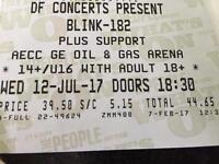 2 x Blink 182 Tickets Aberdeen
