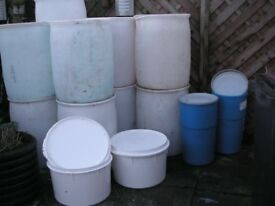 Selection of Barrels/Tubs