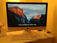 """iMac 27"""" 14,2 - Late 2013 with 32 GB RAM Magic mouse and wired kayboard"""