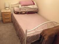 Double bed frame and mattress for sale