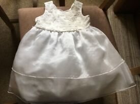 12-18 month white Mini V flower girl dress