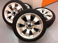 Refurbished BMW 3-Series alloy wheels and excellent continental tires.