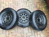 "225/75/15 colway tyres 15"" jimny wheels"