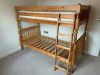 *REDUCED PRICE** Solid pine bunk/ single beds with safety rails