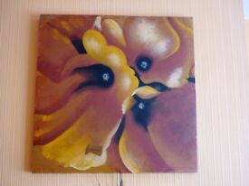 Large painted CANVAS flower