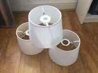 White lampshades (x3)