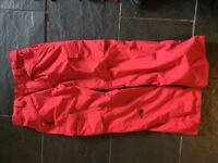 Size large red ski/snowboard trousers excellent condition