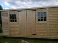Heavy duty shed 3.6m x 3m log lap