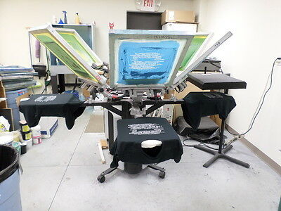 Printa 770 Series Deluxe 6 Color Screen Printing Press- Profitable Productive