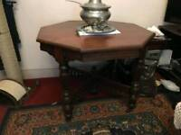 Victorian mahogany octogonal table