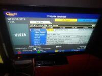 Excellent PANASONIC 37in X 3 HDMI FREE VIEW TV 1080P BRILLIANT Tv